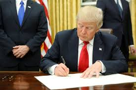 Donald Trump Signing Executive Orders