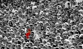 lost in crowd