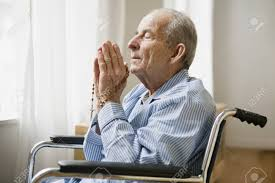Elderly Person Praying