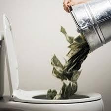 throwing away money 1