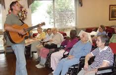 music at senior citizen home
