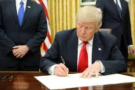 Donald Trump Signing Executive Orders