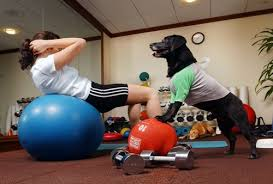 Working out with dog 1