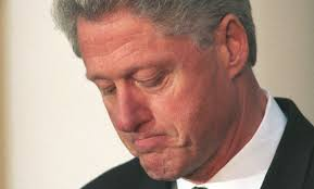 Sad Bill Clinton