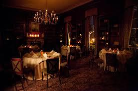 dark restaurant