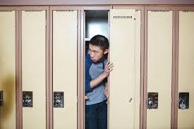 hiding in locker-room